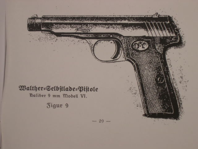 REPRINT - German Owner's Manual for Walther Pistols