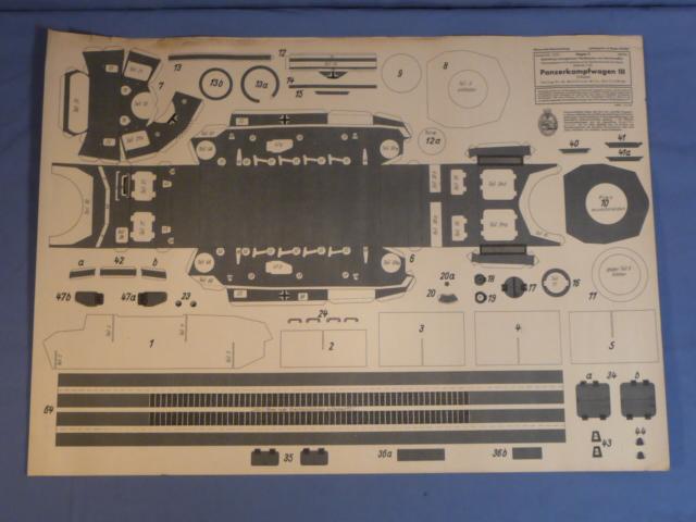 Bunker Militaria: Original WWII German Paper Model Kit