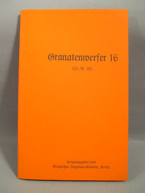REPRINT - German WWI Manual for the Spigot Launcher 16