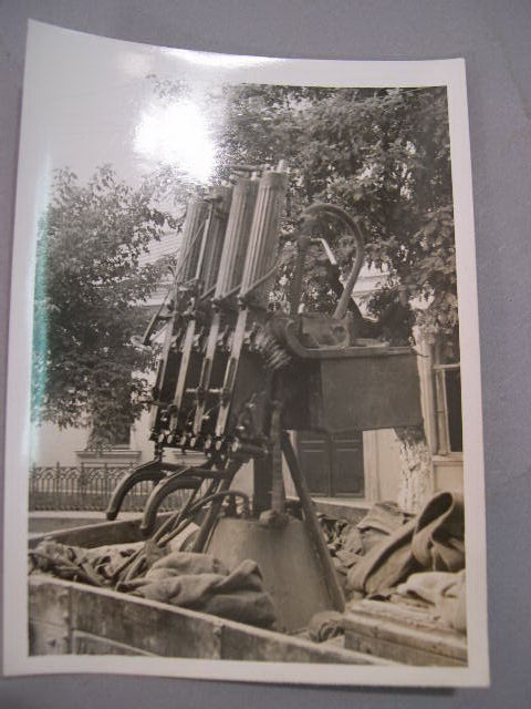 Original WWII German Russian Front Photo - Russian AA Guns