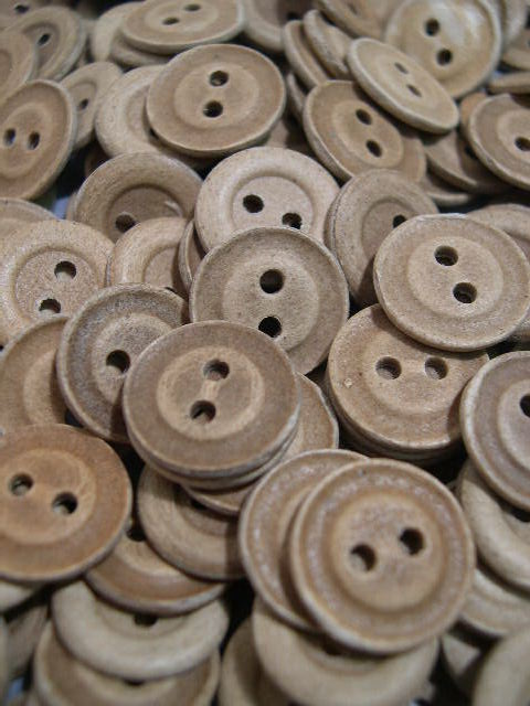 Original WWII German Pressed Paper Buttons - 15mm