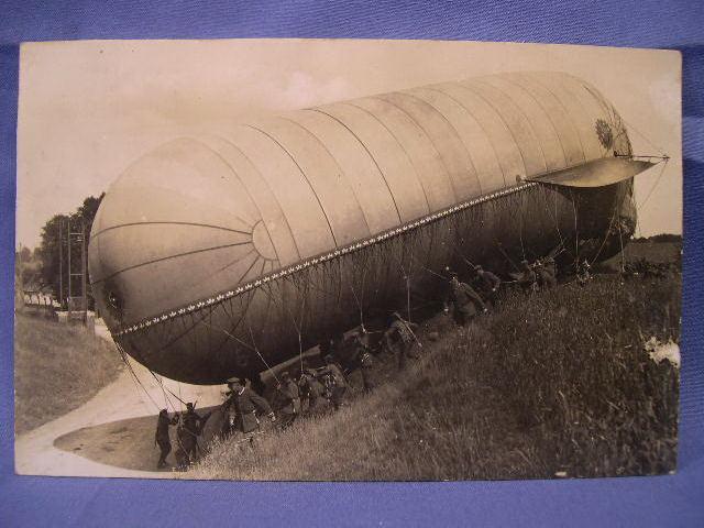 Original WWI German Photograph Postcard, Air Ship!