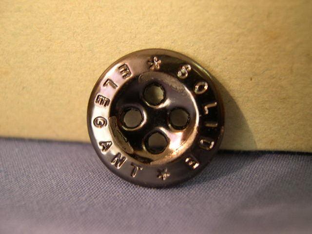 Original WWII German 17mm Glass Buttons - Solide Elegant