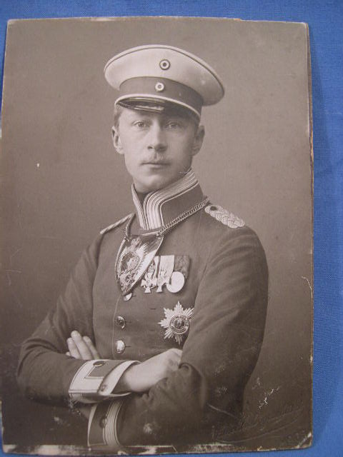 Original 1908 German Photograph of Crown Prince William