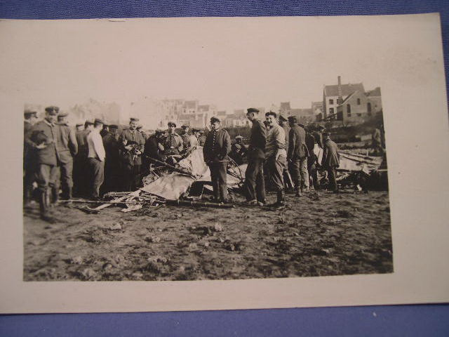 Original WWI German Photo Postcard - Plane Crash