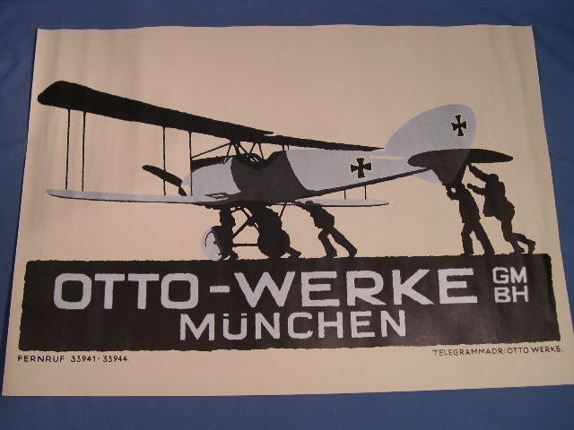 REPRINT WWI German Poster, Otto-Werke Advertisement