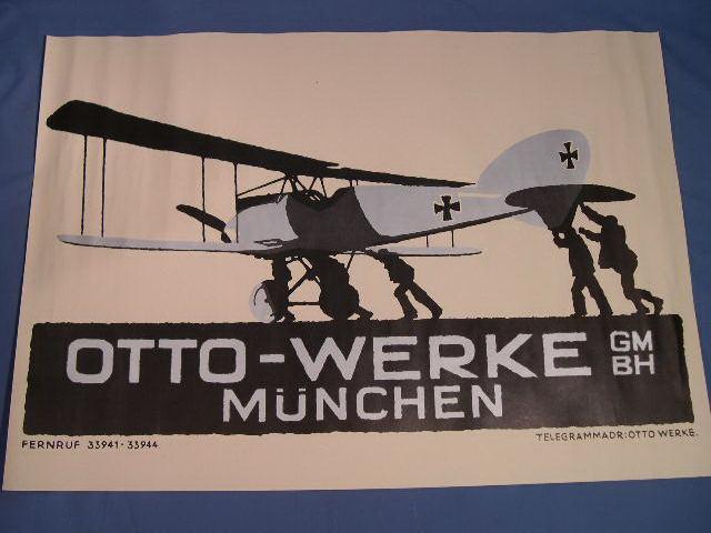 REPRINT WWI German Poster, Otto-Werke Advertisement