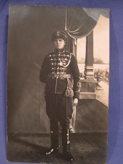 Original WWI Postcard, Parade Dress