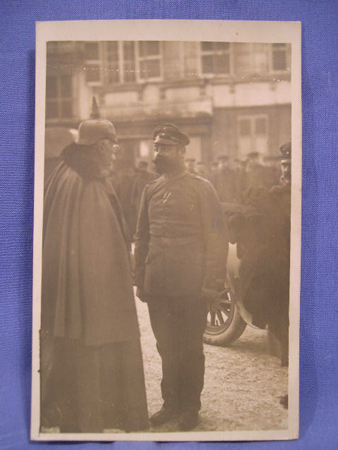 Original WWI German Postcard, Officers
