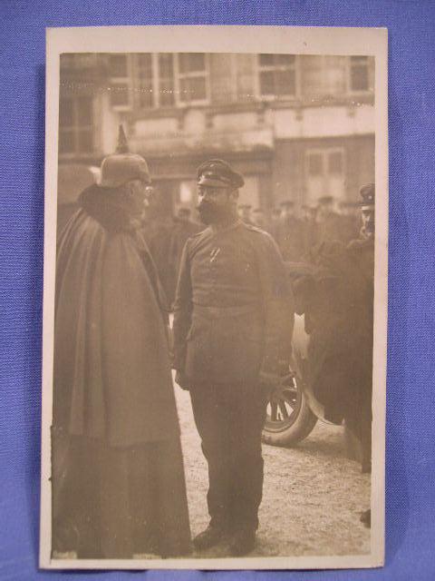 Original WWI German Postcard, Officers