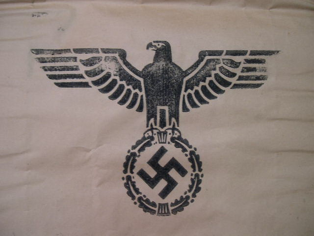 RARE! Original WWII German Large Paper Ration Bag, UNUSED!