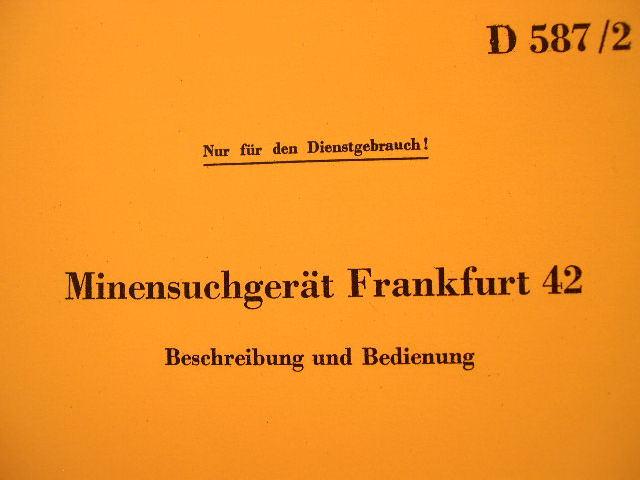 REPRINT - Mine Detector Manual Minensuchgerät Frankfurt 42