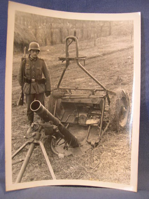 Original WWII German Photograph, Russian Heavy Mortar