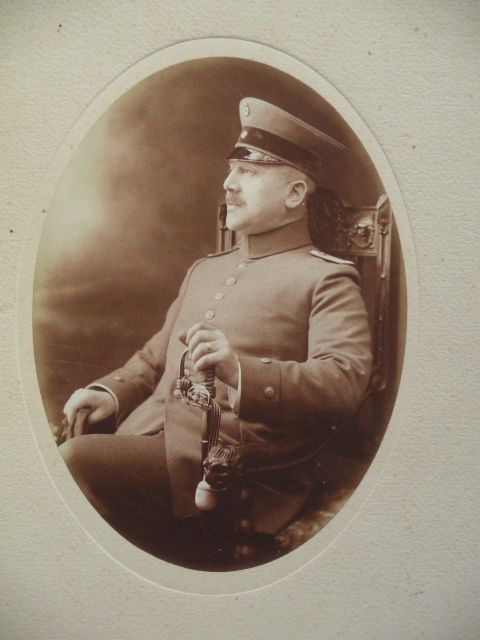 Original WWI German Officers Matted Photograph