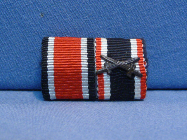 Original WWII German Two-Position Ribbon Bar - UNISSUED