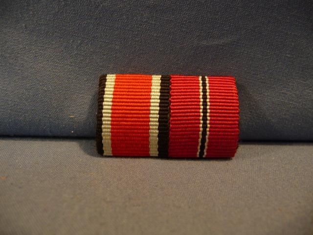 Original WWII German Two-Position Ribbon Bar - UNISSUED