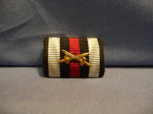 Original Pre-WWII German 1914-18 Combatant's Cross of Honor Ribbon Bar, UNISSUED