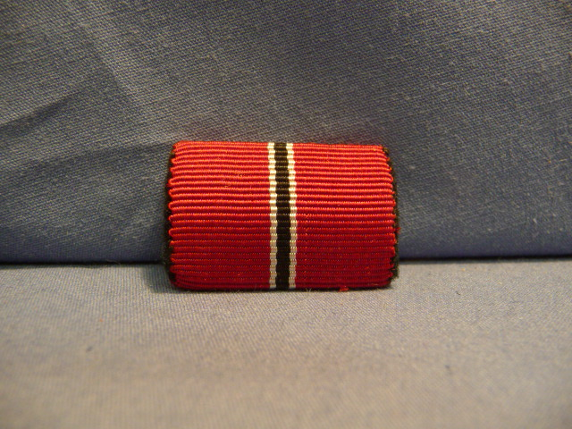 Original WWII German Russian Front Medal Ribbon Bar, UNISSUED