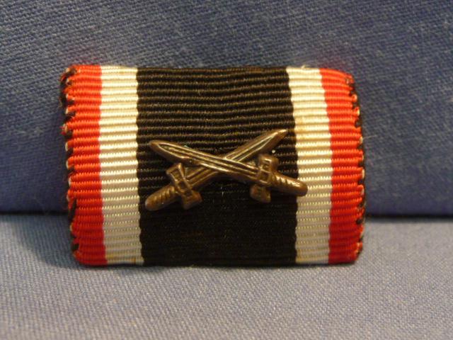 Original WWII German War Merit Cross 2nd Class w/Swords Ribbon Bar, UNISSUED