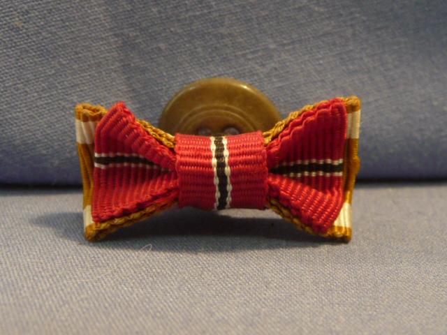 Original WWII German 2-Place Lapel Button Hole Ribbon, UNISSUED