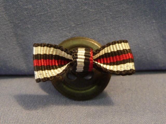 Original Pre-WWII German Single-Place Lapel Button Hole Ribbon, UNISSUED