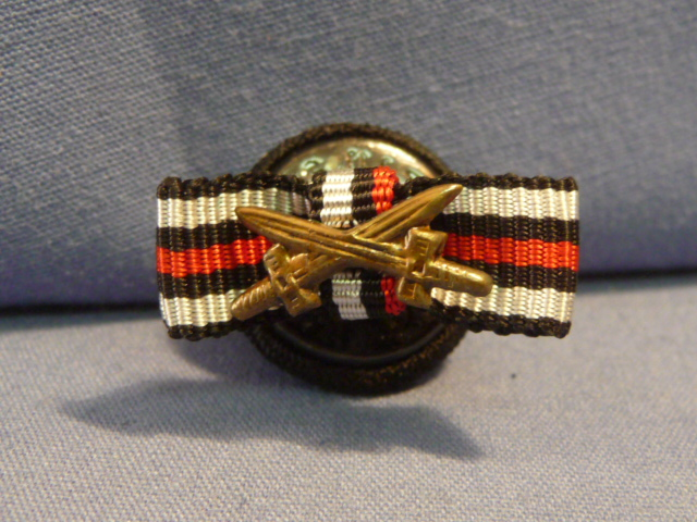 Original Pre-WWII German Lapel Button Hole Ribbon, UNISSUED