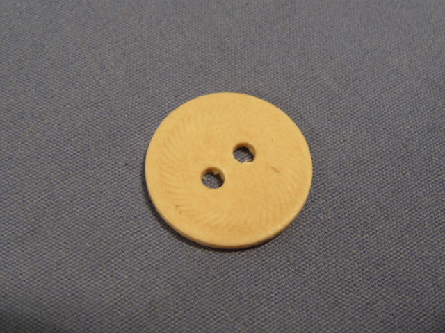 Original WWII German Pressed Paper Buttons, 17mm