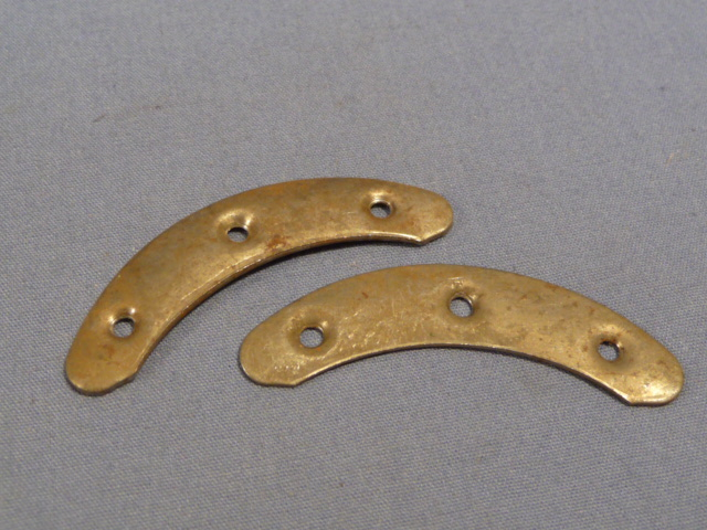 Original WWII German Toe Plates, Pair