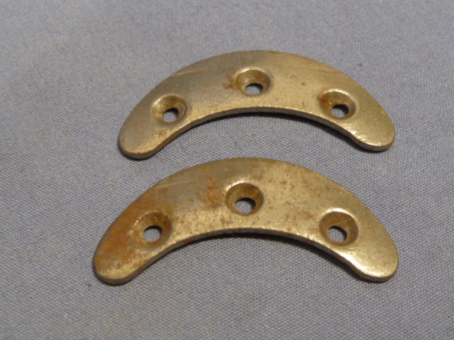 Original WWII German Toe Plates, Pair