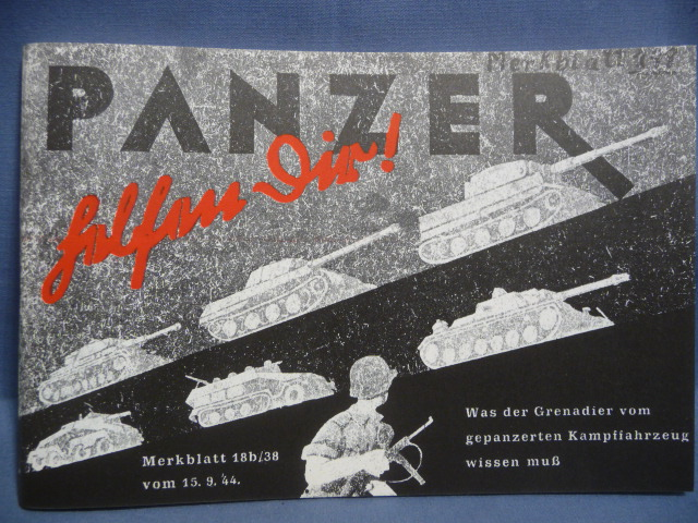 REPRINT - WWII German Manual for Panzergrenadier