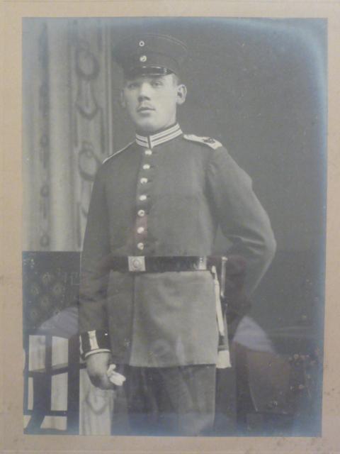 Original WWI German Soldier Framed Photo