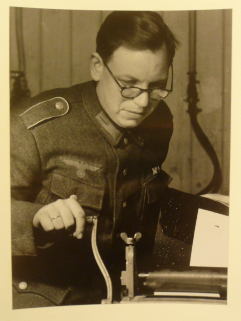 Original WWII German Soldier Working Photo