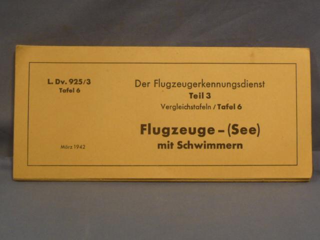 Original WWII German Training Sheet, Sea Planes