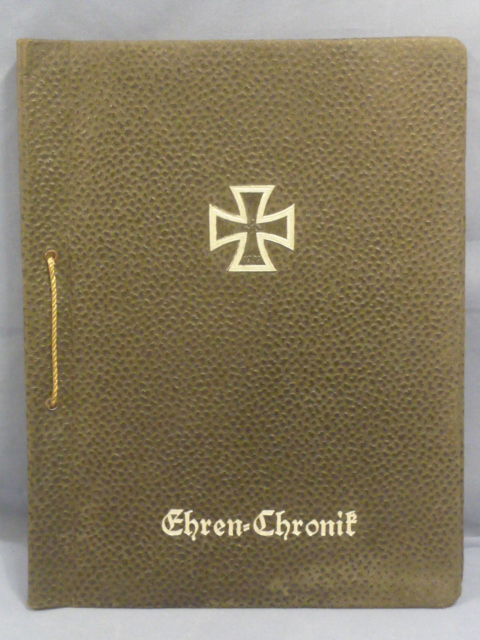Original WWII German Army Service Photo Album, Empty
