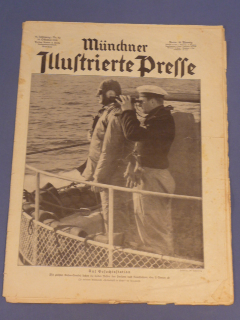 Original WWII German Magazine, Münchner Illustrierte Presse