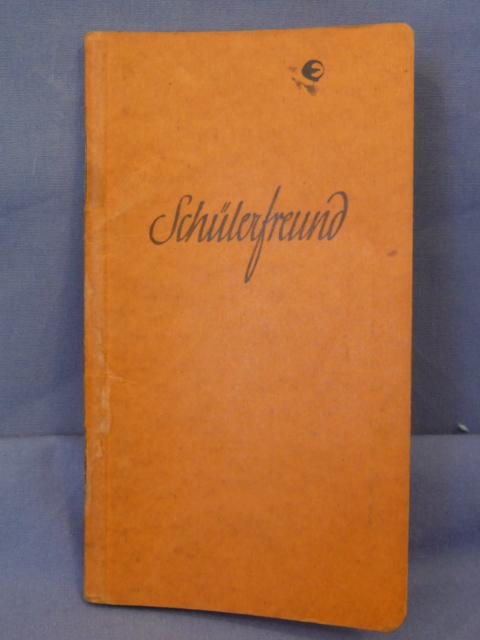Original 1937 German Pupil�s Friend Pocket Book