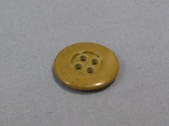 Original WWII German Khaki Colored Glass Buttons, 18mm