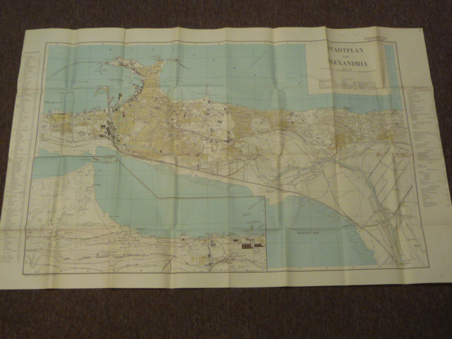Original WWII German LARGE Afrikakorps Map of ALEXANDRIA