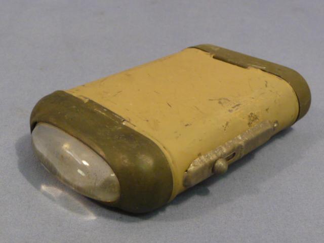 Original WWII Era German 4.5 Volt Flashlight, Ordnance Tan