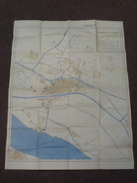 Original WWII German LARGE Afrikakorps Map of QENA