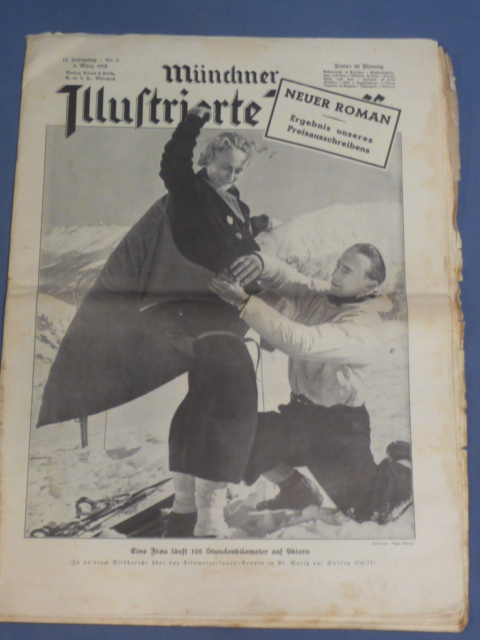 Original 1938 German Magazine, M�nchner Illustrierte Presse