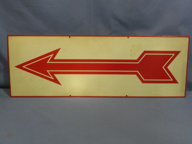 Original WWII Era German ARROW Road Sign
