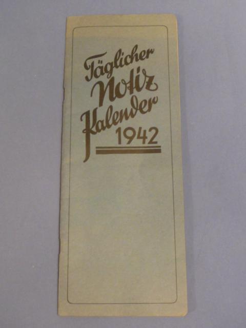 Original WWII German 1942 Calendar Book