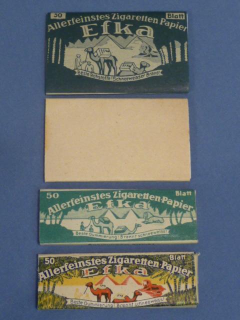 Original WWII German Set of 4 Cigarette Papers