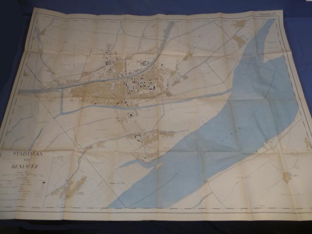 Original WWII German Afrika Korps Large Service Map
