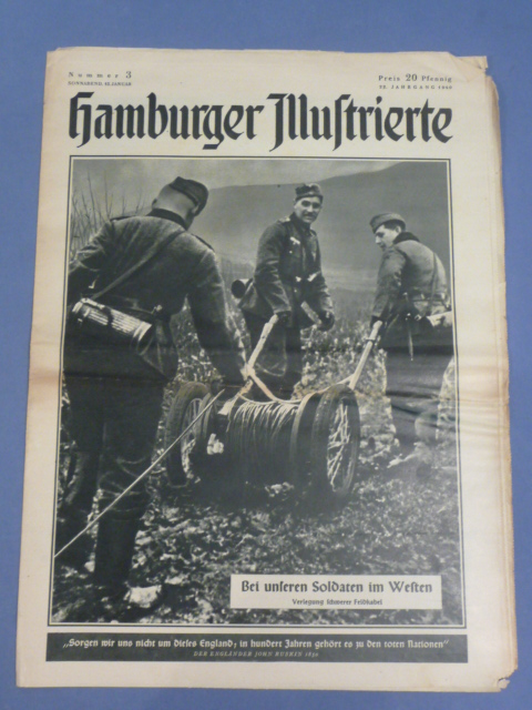 Original WWII German Magazine, Hamburger Illustrierte