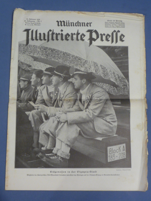 Original 1936 German Magazine, M�nchner Illustrierte Presse