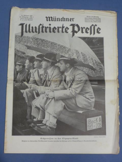 Original 1936 German Magazine, Münchner Illustrierte Presse