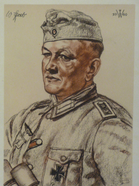 Original WWII German Color Print, Feldwebel Jakob