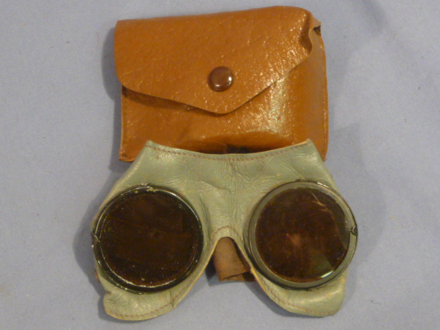 Original WWII German Sun Goggles with Gray Frames � UNISSUED!!!